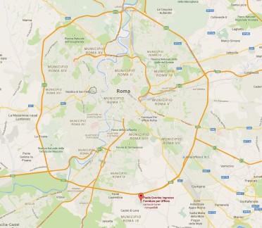 Cartina GRA Gravino Via Castel di Leva 298z